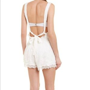 Surf Gypsy White Eyelet Embroidered Romper